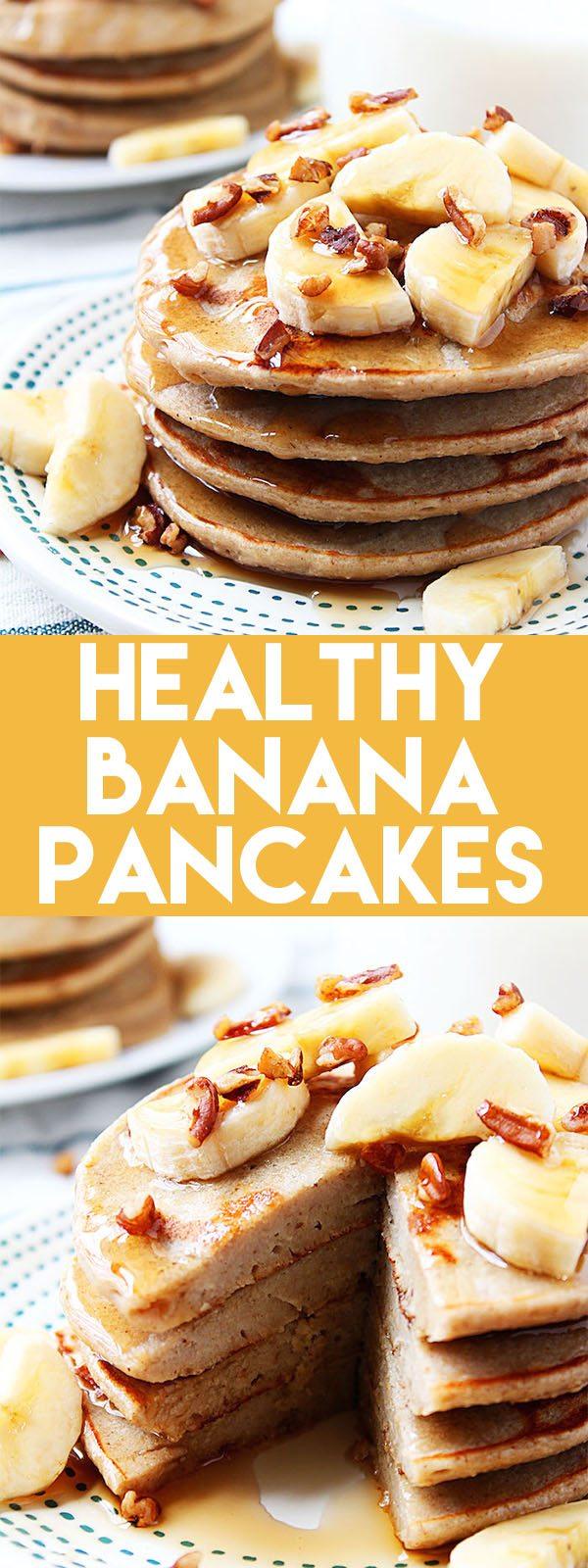 Healthy Banana Pancakes! | High Heels and Grills