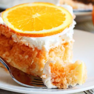 Skinny Orange Creamsicle Cake