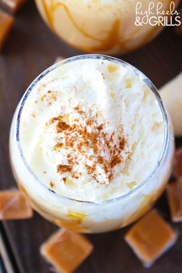 Bananas Foster Frappe - Such a fun and sweet drinkable dessert!