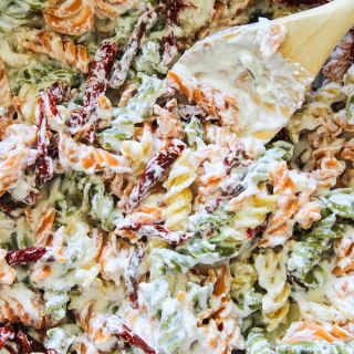 Skinny Gorgonzola Pasta with Sundried Tomatoes
