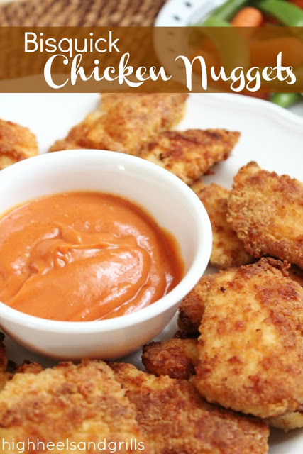 Bisquick Chicken Nuggets - High Heels and Grills Weekly Dinner Meal Plan #1
