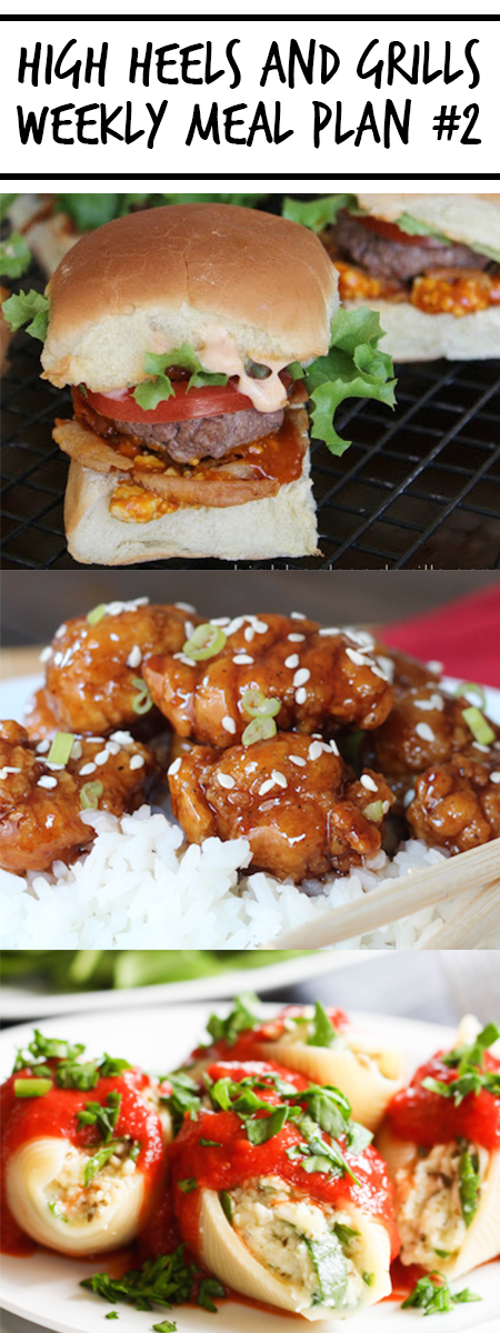 High Heels and Grills Weekly Meal Plan #2