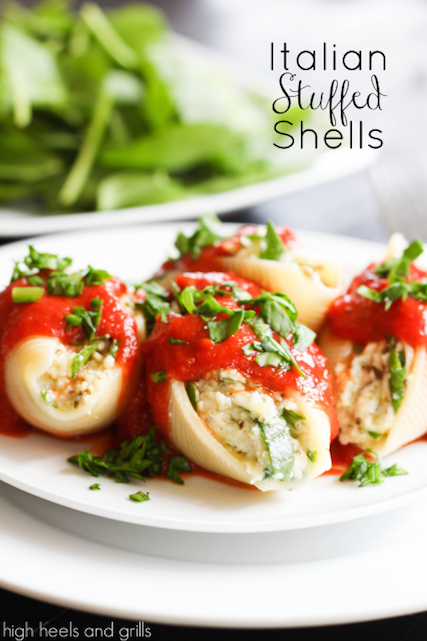 Italian Stuffed Shells - High Heels and Grills Weekly Dinner Meal Plan #2