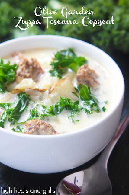 Olive Garden Zuppa Toscana Soup Copycat - High Heels and Grills Weekly Dinner Meal Plan #2