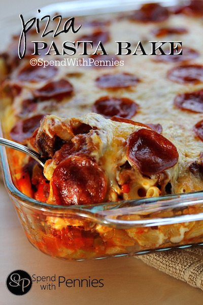 Pizza Pasta Bake - Easy Dinner Meal Plan #1