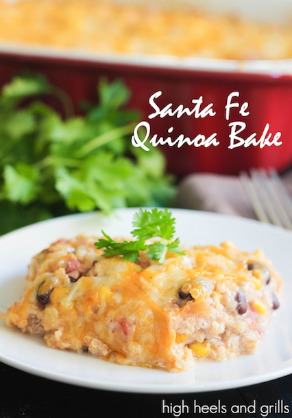 Santa Fe Quinoa Bake - High Heels and Grills Weekly Dinner Meal Plan #3