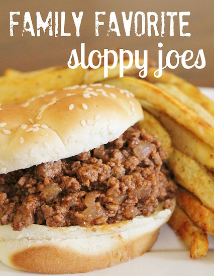 Family Favorite Sloppy Joes - High Heels and Grills Weekly Dinner Meal Plan #3