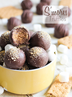 S'mores Truffles. An easy, no bake dessert that tastes just like a s'more!