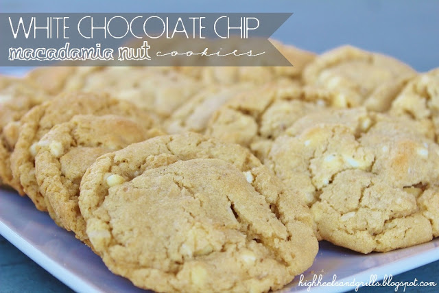 White Chocolate Chip Macadamia Nut Cookies - High Heels and Grills Weekly Dinner Meal Plan #2
