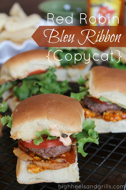 Red Robin Blue Ribbon Copycat - High Heels and Grills Weekly Dinner Meal Plan #2