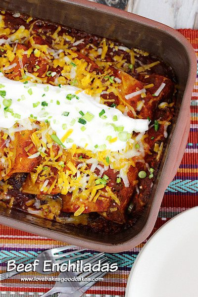 Beef Enchiladas - Easy Meal Plan Sunday #5