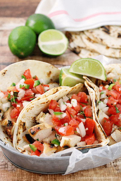 Grilled Chicken Fresco Tacos - Easy Meal Plan Sunday #4