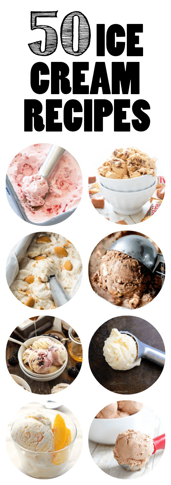 50 Ice Cream Recipes - Every one of these is an ice cream recipe that I want to try! All from such awesome bloggers.