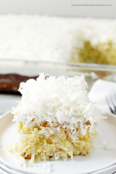 Coconut Cream Poke Cake - Easy Meal Plan Sunday #3