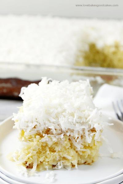 Coconut Cream Poke Cake - Easy Meal Plan Sunday #3