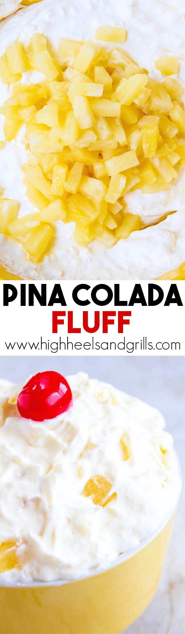 Pina Colada Fluff - This quickly became a fan favorite in our house for parties and get togethers. It tastes like a legit pina colada!