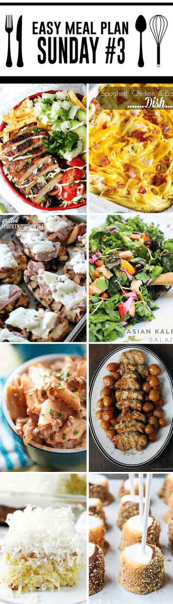 Easy Meal Plan Sunday #3 - 6 dinner and 2 dessert recipes from your favorite bloggers. We are here to make your dinner planning easier, quicker, and tastier! https://www.highheelsandgrills.com/easy-meal-plan-sunday-3/