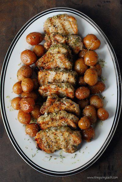 Garlic Rosemary Pork Tenderloin - Easy Meal Plan Sunday #3