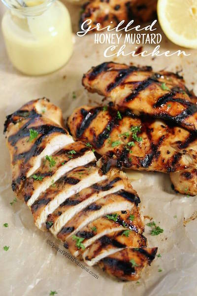 Grilled Honey Mustard Chicken - Easy Meal Plan Sunday #5