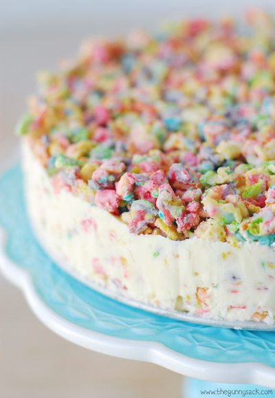 Fruity Pebble Crunch Ice Cream Cake - Easy Meal Plan Sunday #6