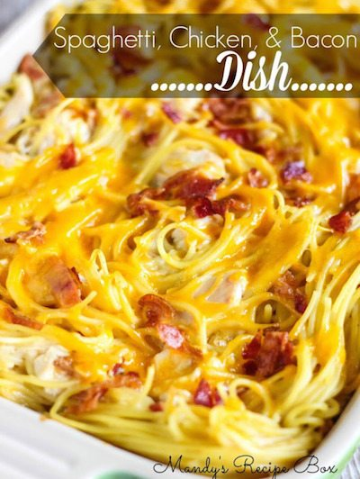 Spaghetti, Chicken and Bacon Dish - Easy Meal Plan Sunday #3