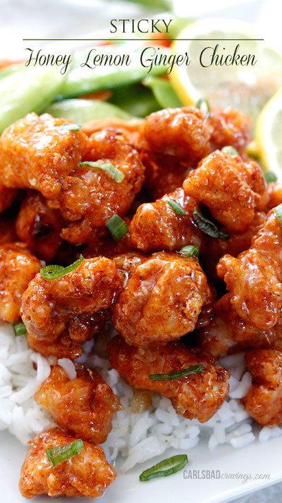 Sticky Honey Lemon Ginger Chicken - Easy Meal Plan Sunday #4