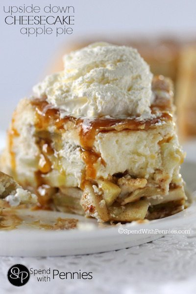 Upside Down Cheesecake Apple Pie - Easy Meal Plan Sunday #6