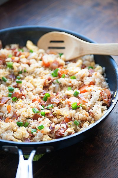 Bacon Fried Rice - Easy Meal Plan Sunday #2
