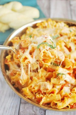 Chicken Parmesan Baked Pasta - 30 Minute Back to School Meals