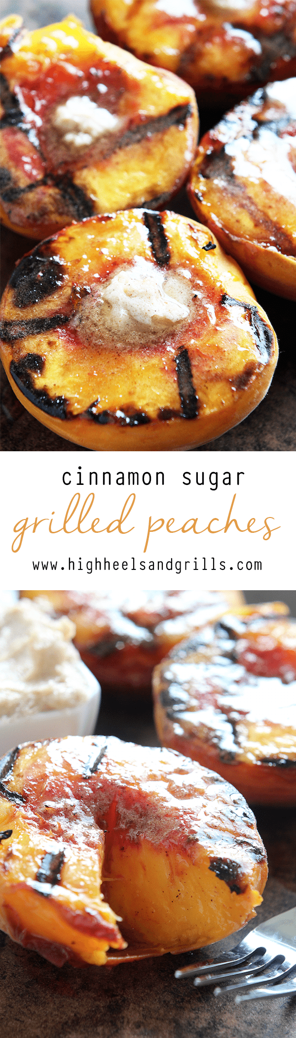Cinnamon Sugar Grilled Peaches Collage