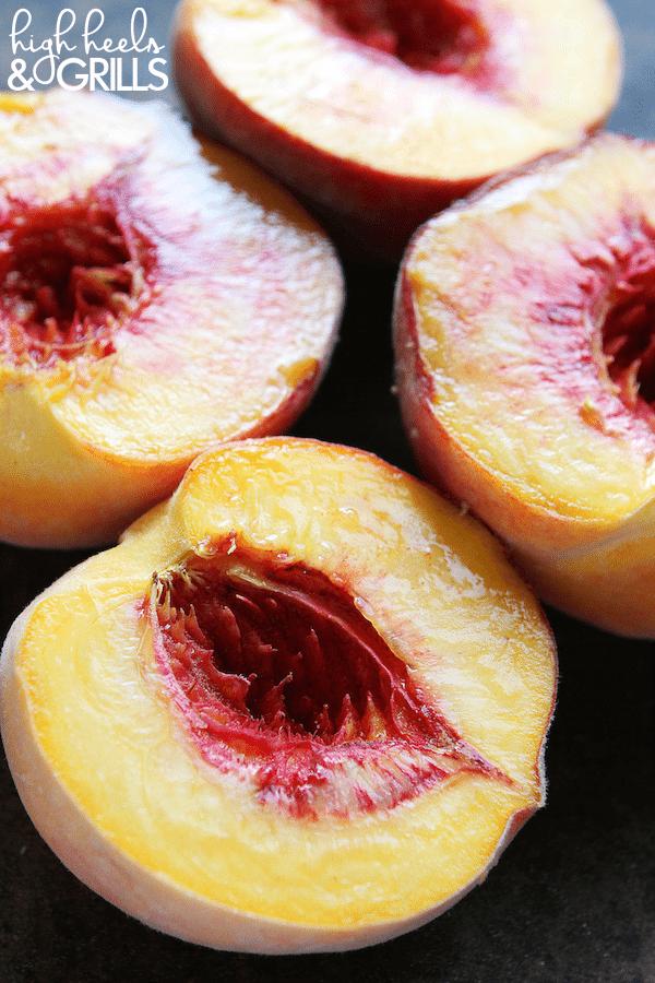 Cinnamon Sugar Grilled Peaches