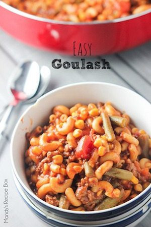 Easy Goulash - 30 Minute Back to School Meals
