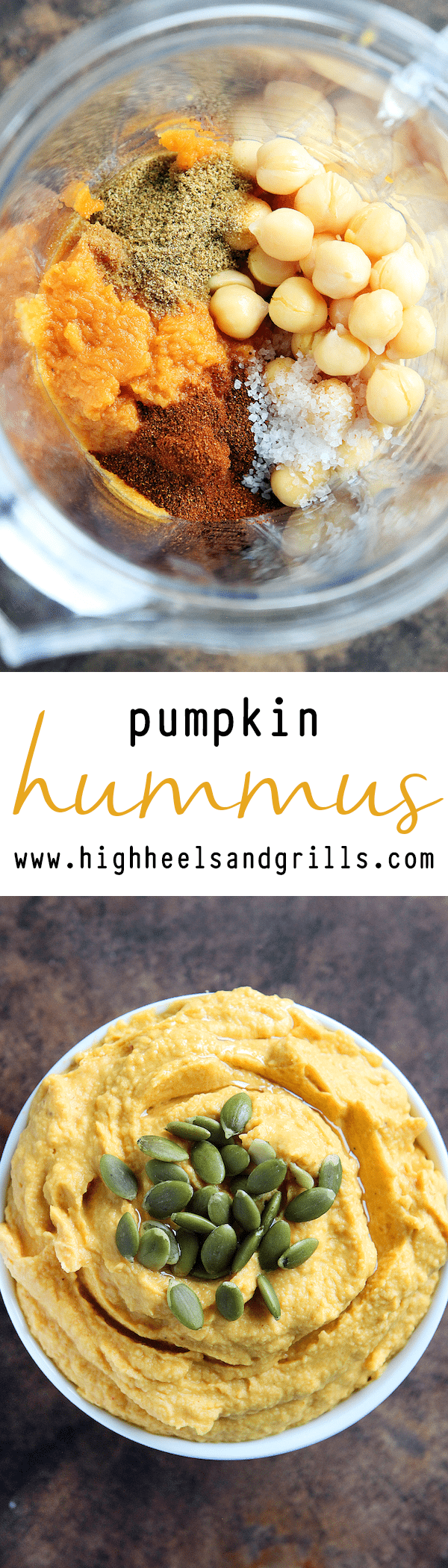 Pumpkin Hummus Collage
