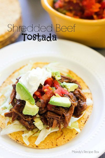 Shredded Beef Tostada - Easy Meal Plan #8
