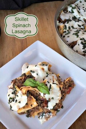 Skillet Spinach Lasagna - 30 Minute Back to School Meals
