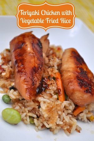 Teriyaki Chicken with Vegetable Fried Rice - 30 Minute Back to School Meals