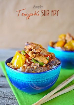 Simple Teriyaki Stir Fry - 30 Minute Back to School Meals