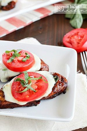Caprese Balsamic Chicken - 30 Minute Back to School Meals