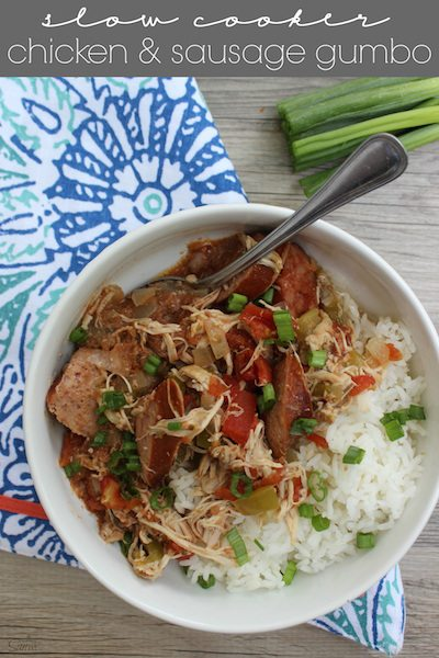 Slow Cooker Chicken and Sausage Gumbo - Easy Meal Plan #9