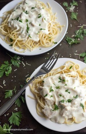 15 Minute Chicken Alfredo - 30 Minute Back to School Meals