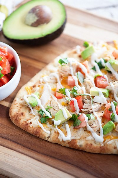 Mexican Chicken Flatbread - Easy Meal Plan #10