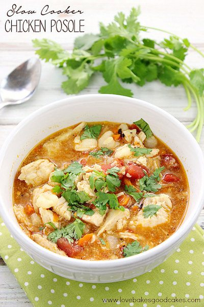 Slow Cooker Chicken Posole - Easy Meal Plan #13