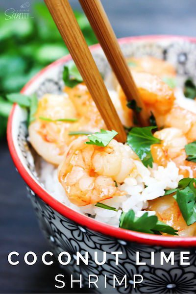 Coconut Lime Shrimp - Easy Meal Plan #13