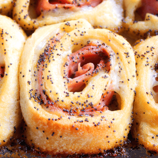 Baked Ham and Cheese Rollups