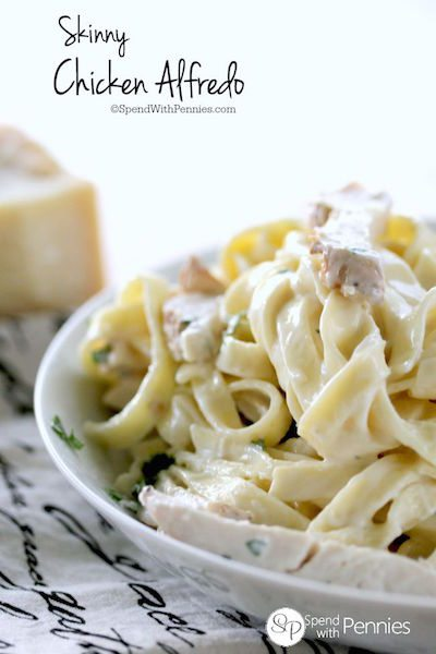 Skinny Chicken Alfredo - Easy Meal Plan #12
