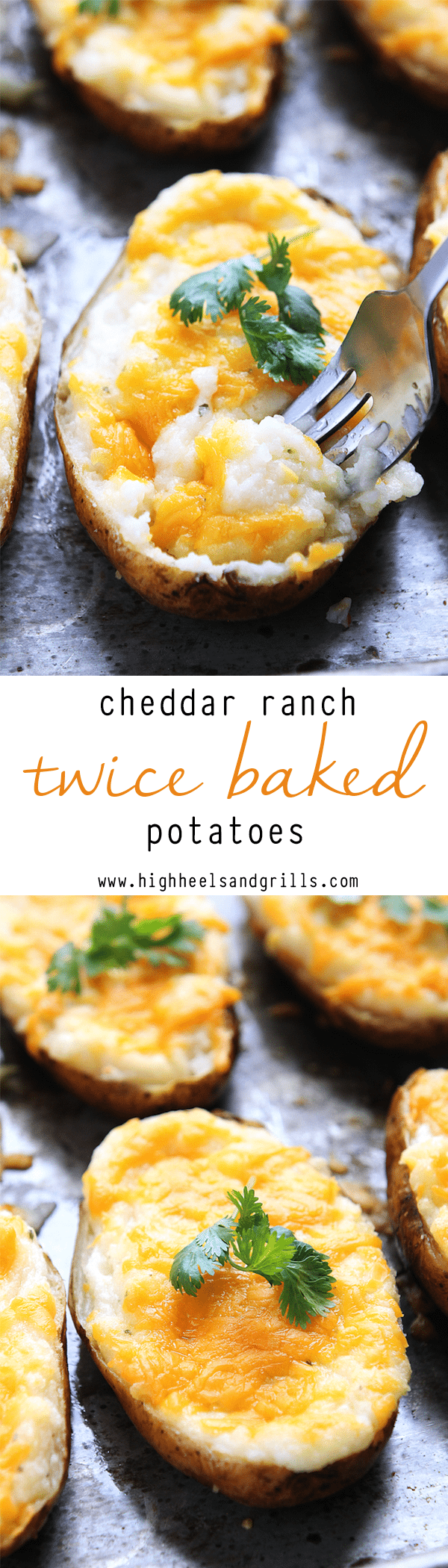 Cheddar Ranch Twice Baked Potatoes Collage