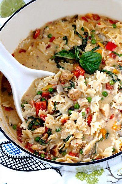 Creamy Cajun Chicken Pasta Soup - Easy Meal Plan #15