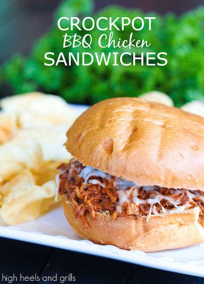Crockpot BBQ Chicken Sandwiches - Easy Meal Plan #19