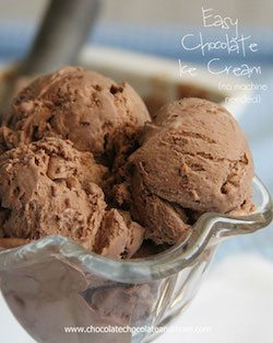 Easy Chocolate Ice Cream