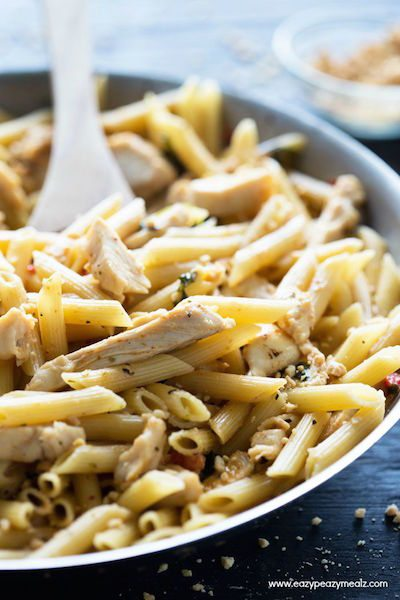 Thai Peanut Chicken Penne - Easy Meal Plan #15